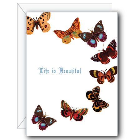 Life is Beautiful Butterfly Greeting Card