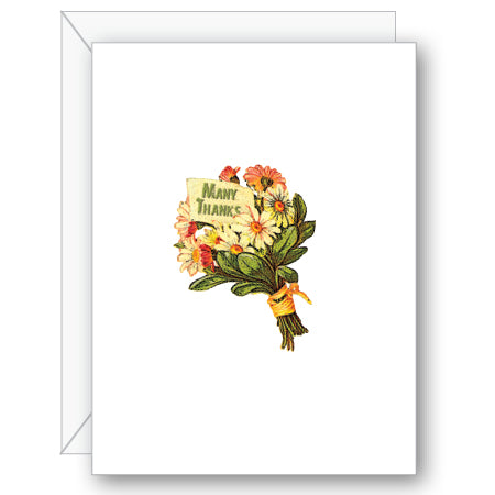 Thank You Bouquet Greeting Card - NOW 40% OFF