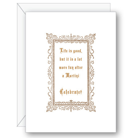 Life is Good Martini Greeting Card