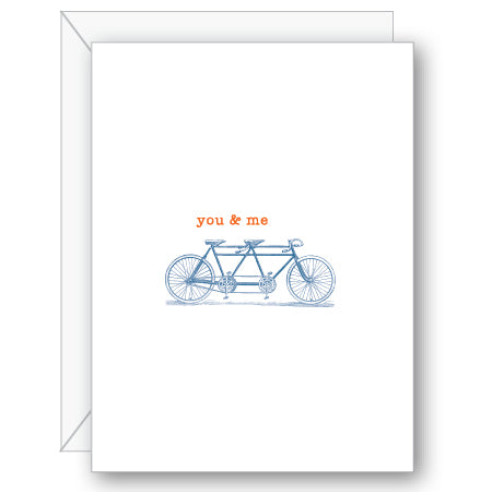 You and Me Greeting Card - NOW 40% OFF