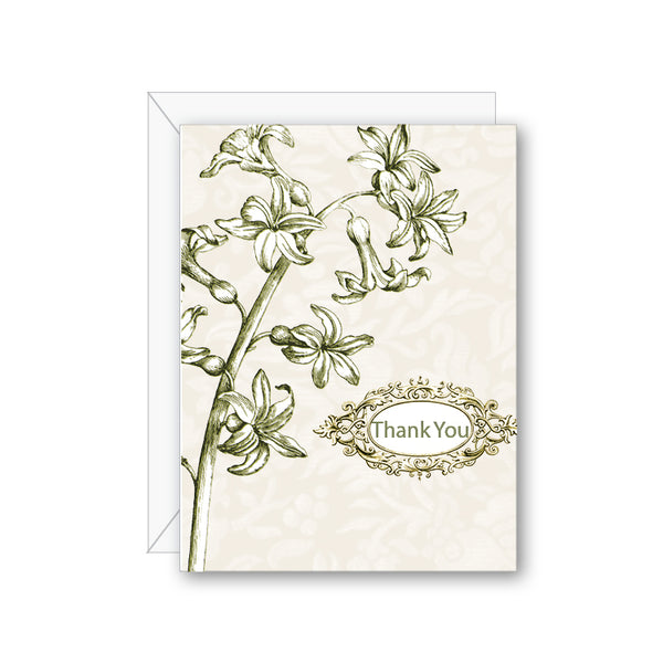 Glory of Snow Thank You Greeting Card - NOW 40% OFF
