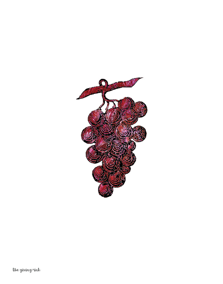Grapes Italian Paper Downloadable Print