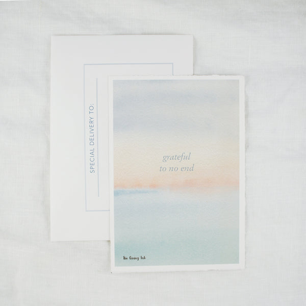 Grateful Abstract Watercolor Greeting Card