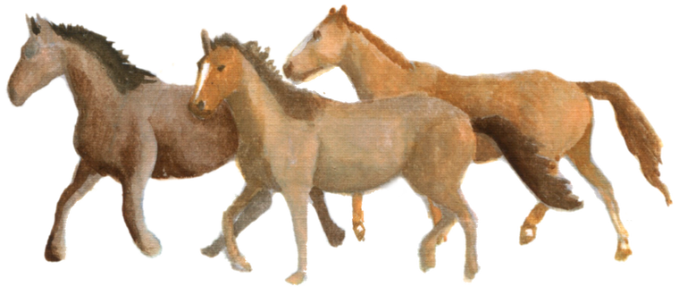 Running Horses downloadable artwork