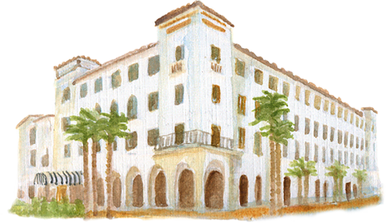Santa Barbara Hotel Californian downloadable artwork