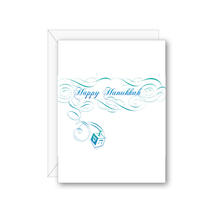 Hanukkah Dreidel Greeting Card