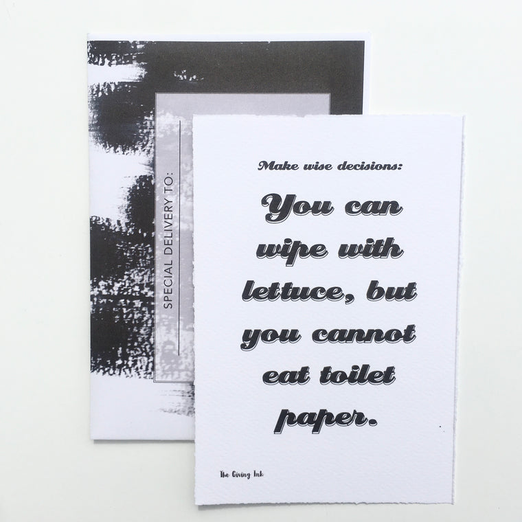 Wise Decisions Greeting Card