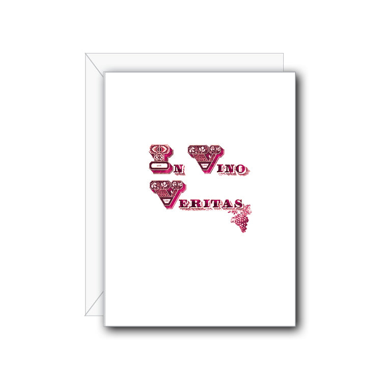 In Vino Veritas Greeting Card - NOW 40% OFF