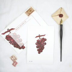 Silhouette Grapes Greeting Card