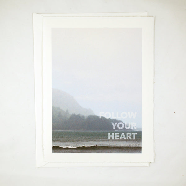 Ocean Follow Your Heart Keepsake Card