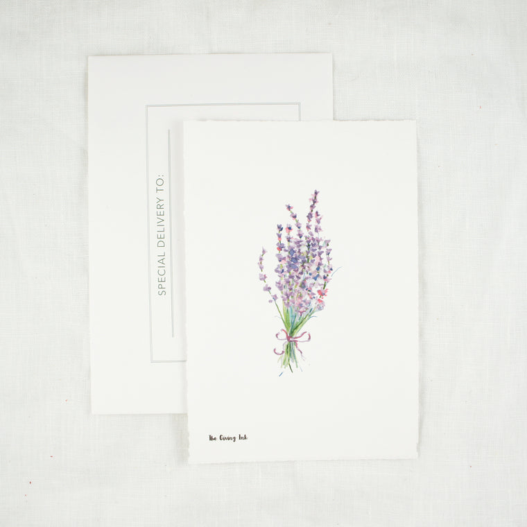Lavender Greeting Card and Notecard Sets