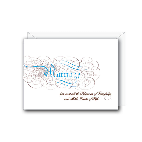 Marriage Greeting Card - NOW 40% OFF