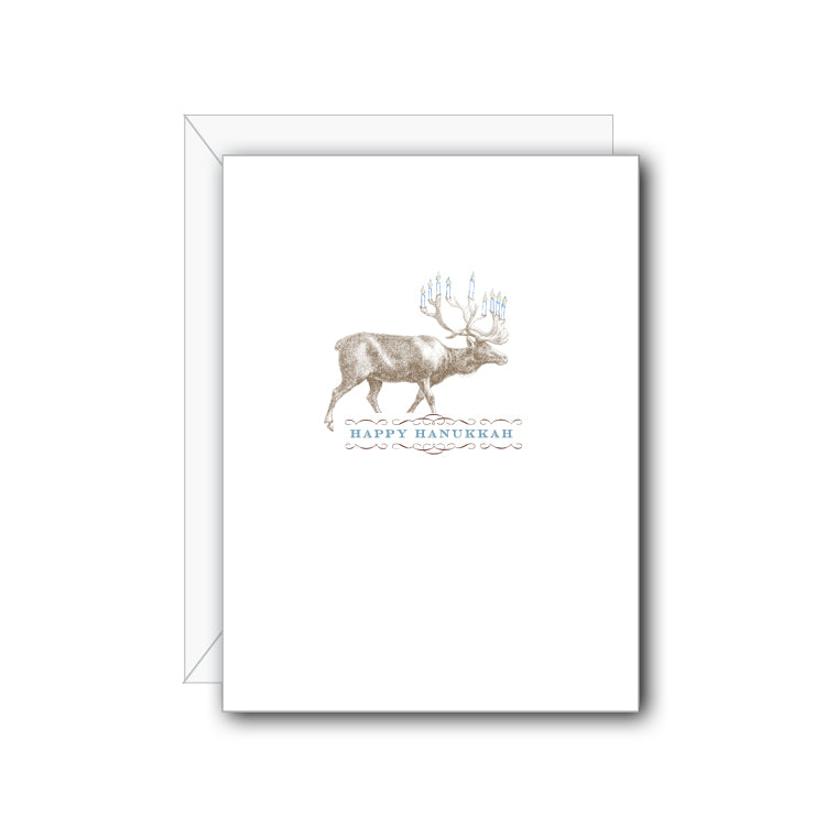 Menorah Elk Greeting Card