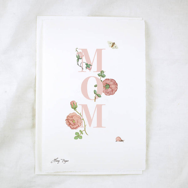 Floral Text Mom Greeting Card