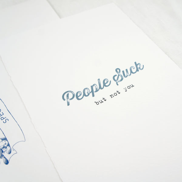 People Suck Greeting Card
