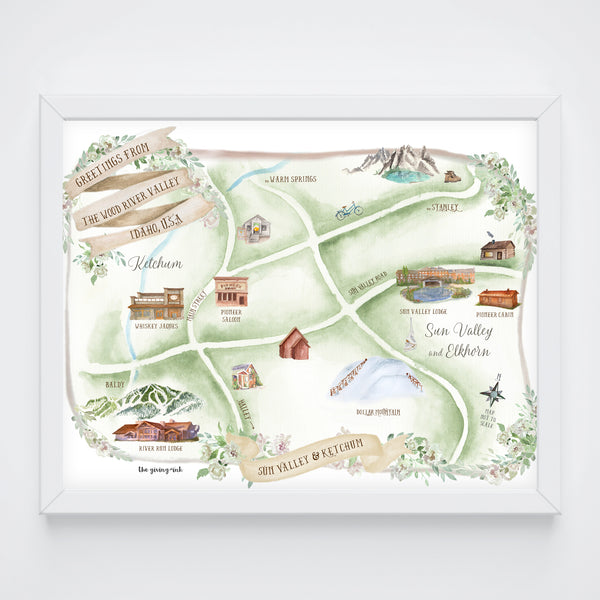Sun Valley Map Print