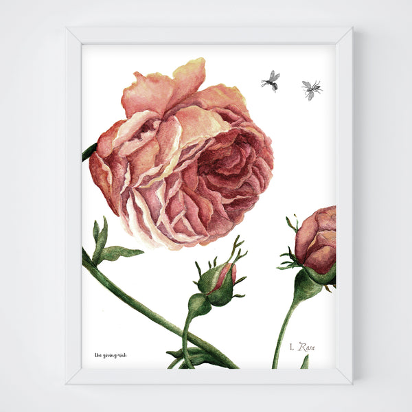 Dark Abstract Rose Downloadable Print