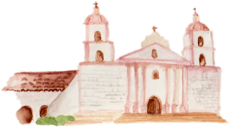 Santa Barbara Mission downloadable artwork