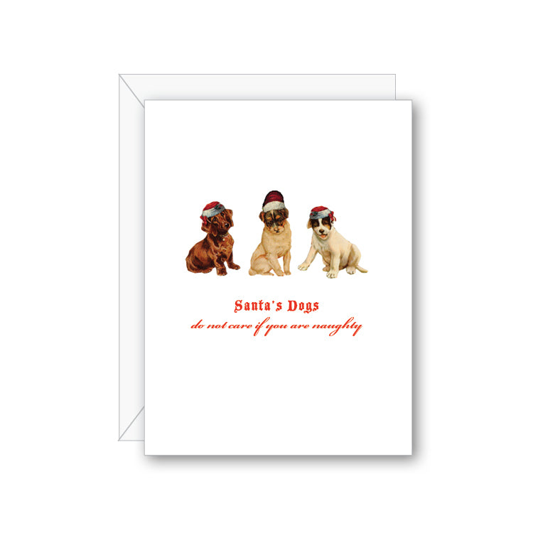 Santa's Dogs Greeting Card