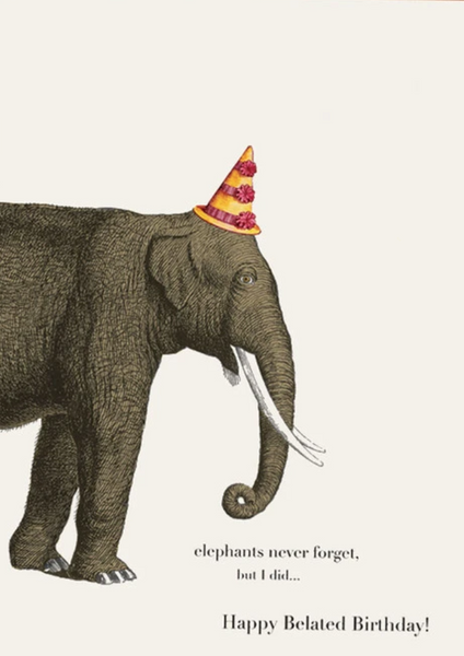 Elephants Never Forget Greeting Card