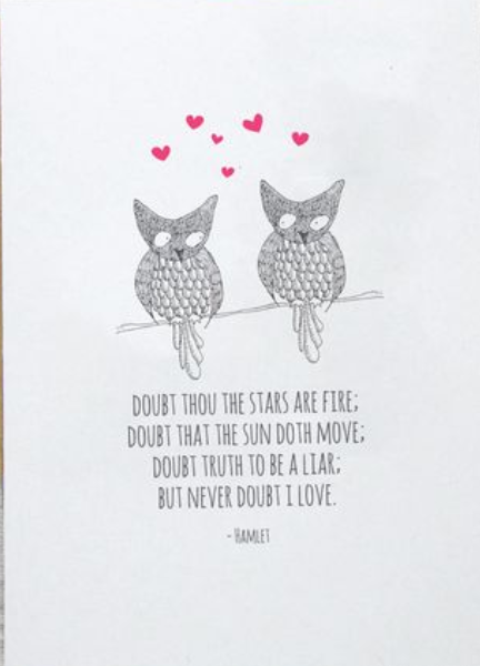 Hamlet Owls Greeting Card