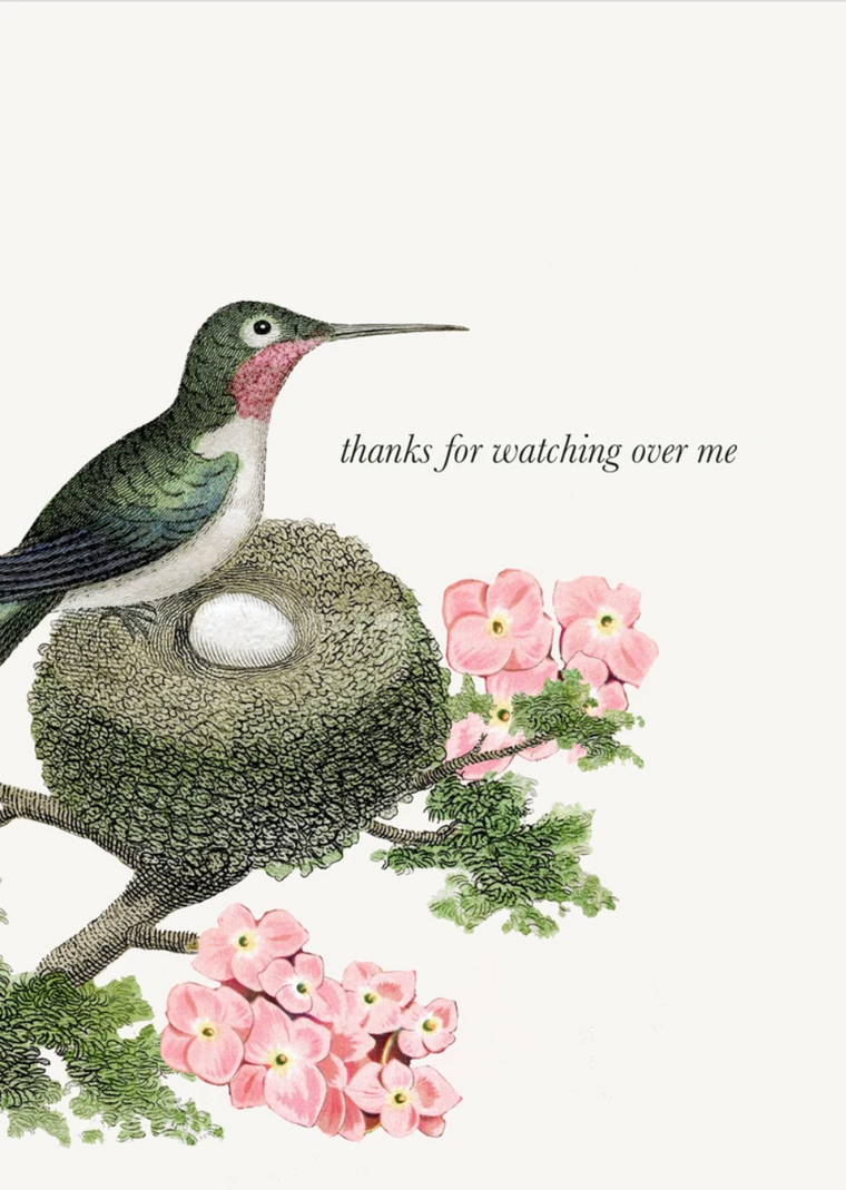 Thanks for Watching Over Me Greeting Card