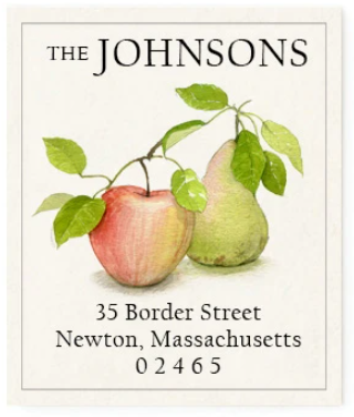 Custom Address Stickers - Apple and Pear