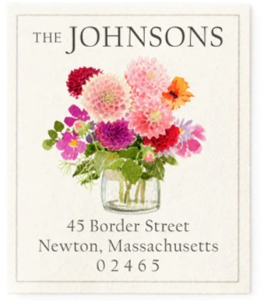 Custom Address Stickers - Autumn Dahlias