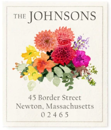 Custom Address Stickers - Dahlias