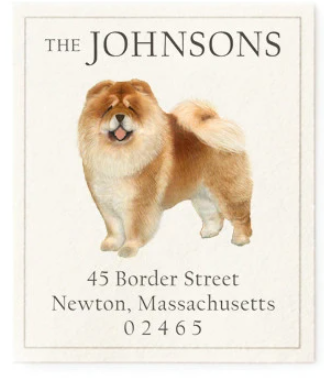 Custom Address Stickers - Chow Chow