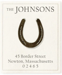 Custom Address Stickers - Horseshoe