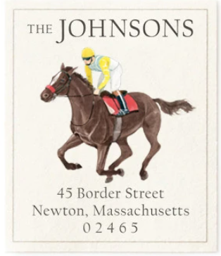 Custom Address Stickers - Saratoga Eight