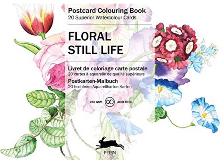 Postcard Coloring Book - Floral Still Life
