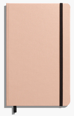 "5.25""x8.25 Hard Linen Journal (3 Colors Available - Blush, Cream or Jet Black)"