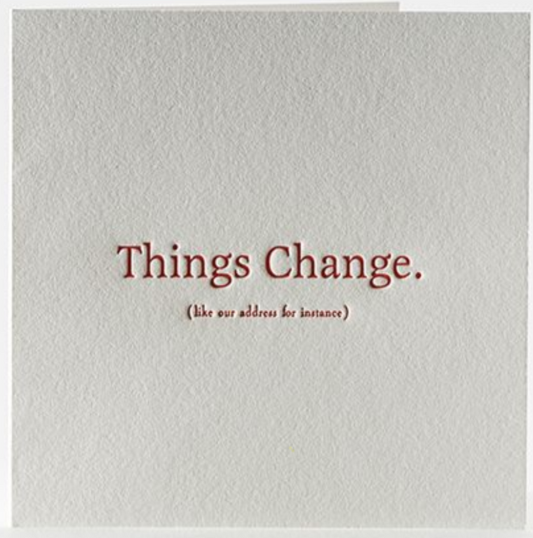 Things Change (New Address) Boxed Set
