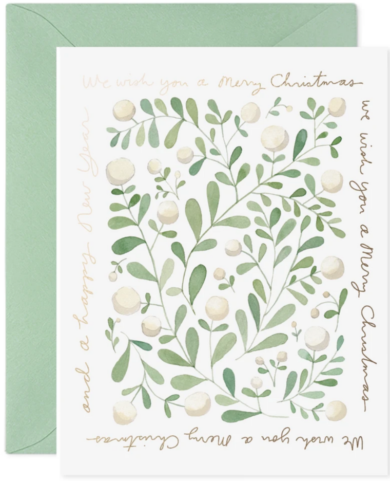 Christmas Greens Greeting Card