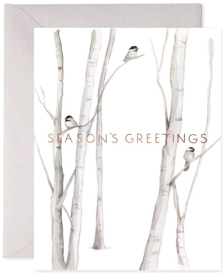 Snowy Birches Greeting Card