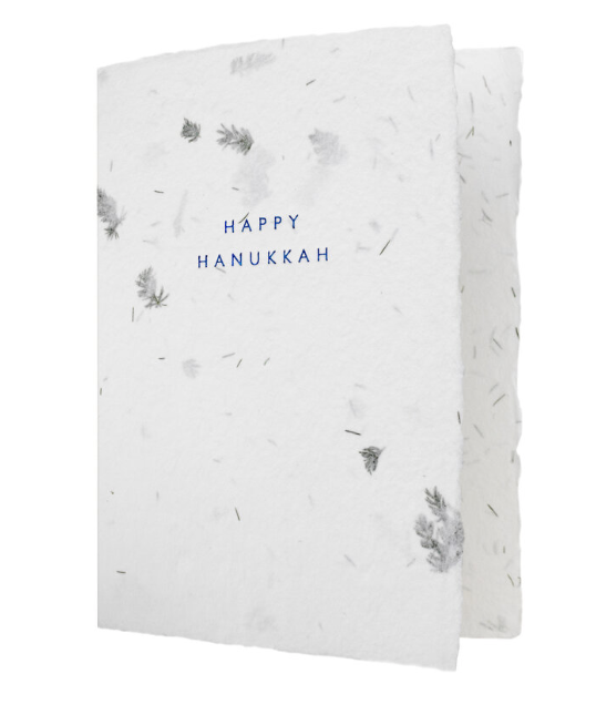 Happy Hanukkah Fern Greeting Card