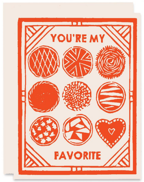 You're My Favorite Greeting Card