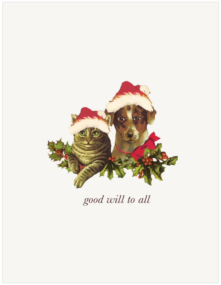 Good Will To All Greeting Card