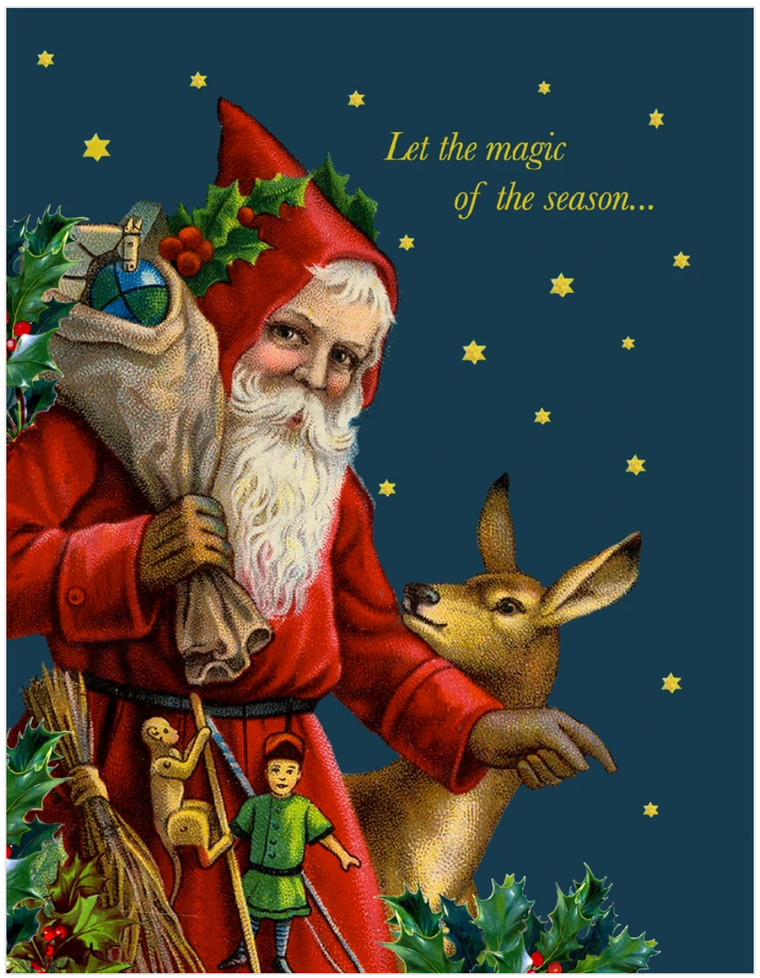 Let The Magic Christmas Greeting Card