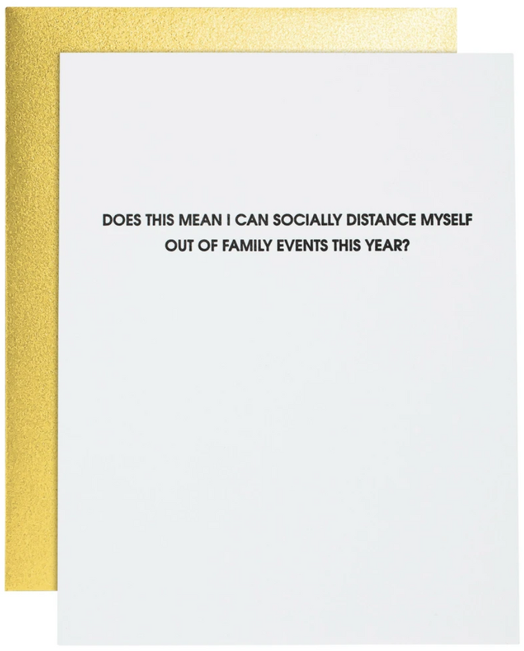 Socially Distance from Family Greeting Card