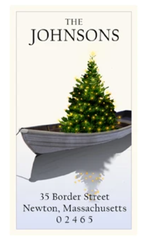 Custom Address Stickers - Holiday Dinghy (2 Styles Available)
