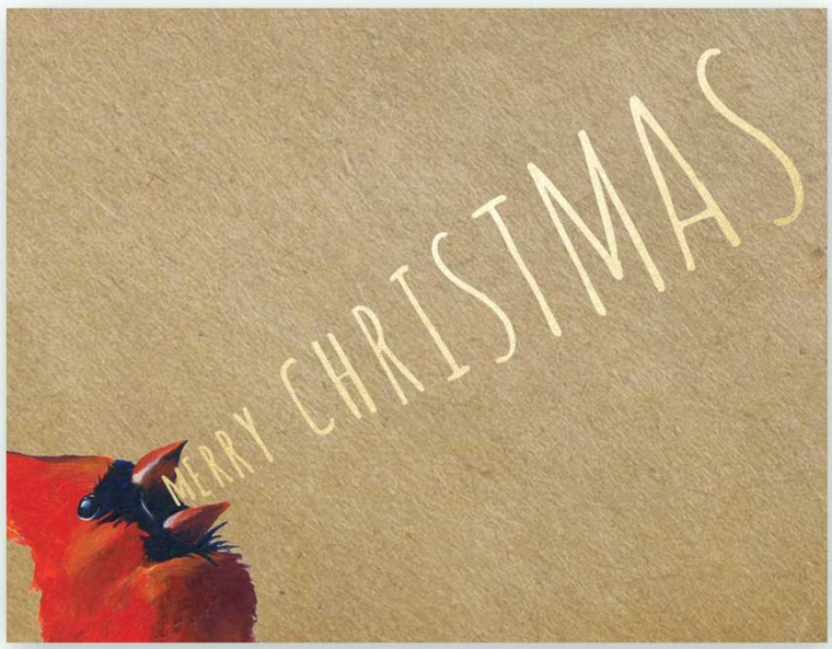 Yelling Christmas Greeting Card