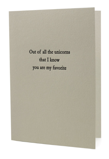 Out Of All The Unicorns Greeting Card