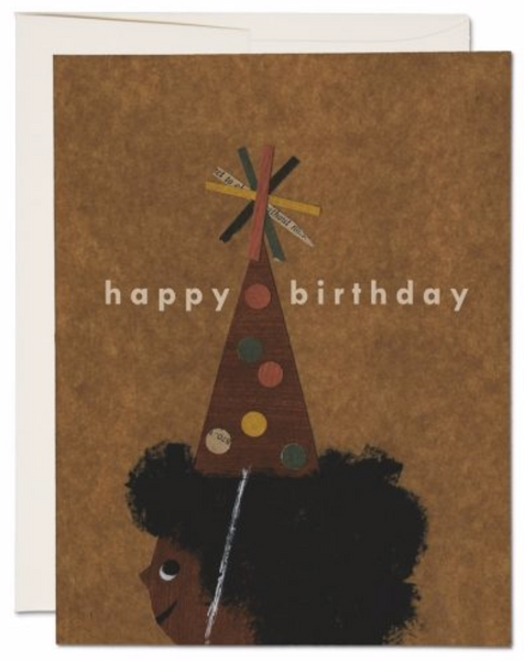 Afro Birthday Greeting Card