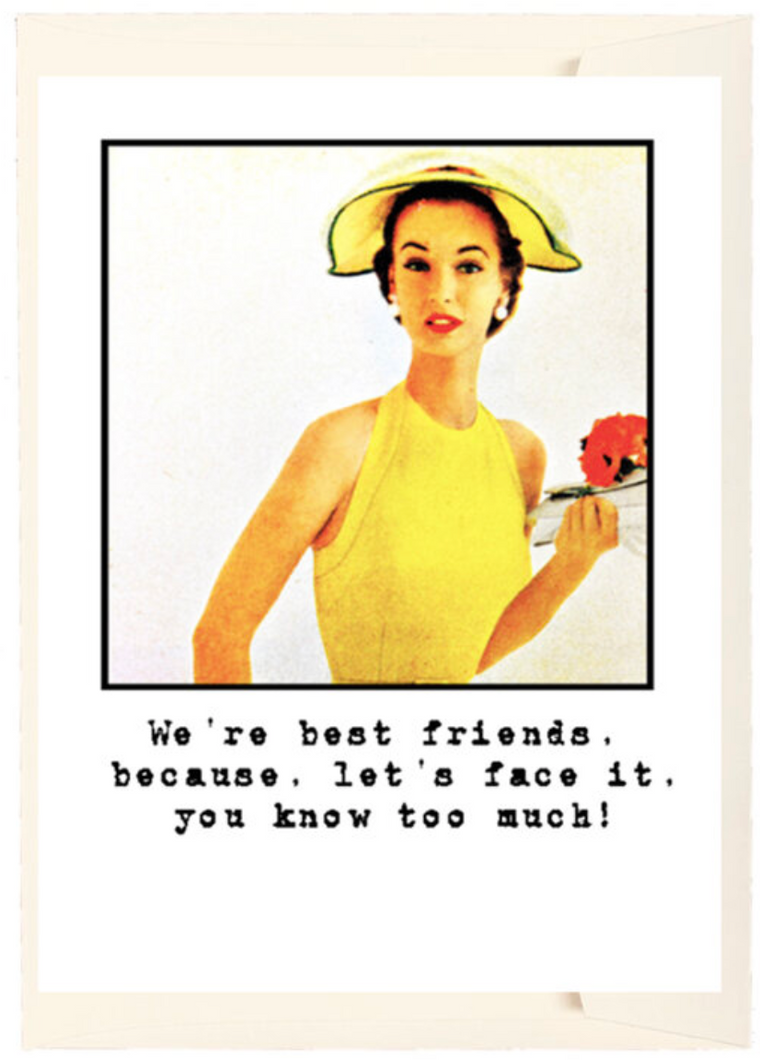 We're Best Friends Greeting Card