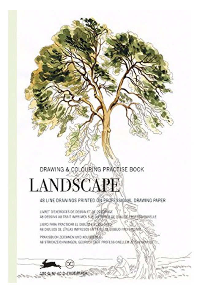 Drawing & Coloring Practice Book - Landscape