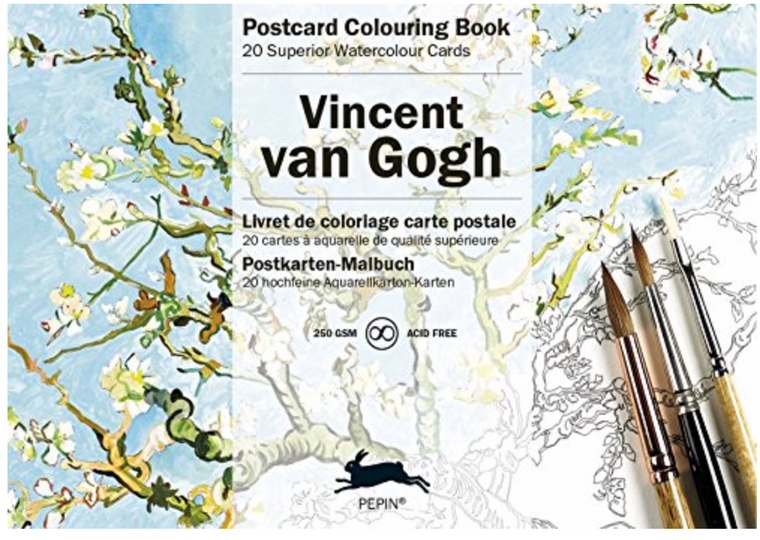 Postcard Coloring Book - Vincent van Gogh