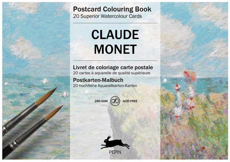 Postcard Coloring Book - Claude Monet